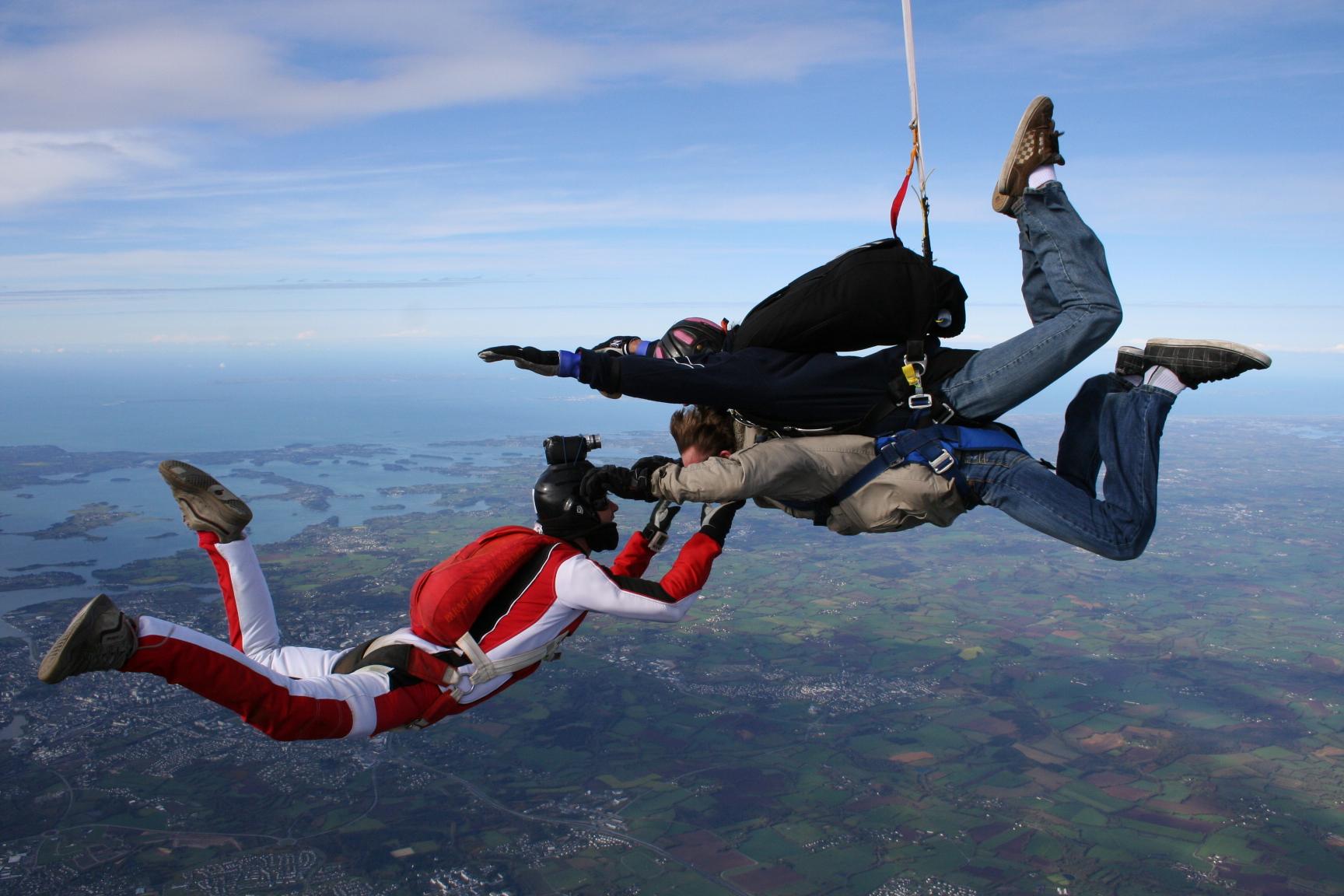 Photos vid os saut parachute tandem vannes 4000m - Saut parachute vannes ...